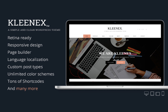 Kleenex Minimalist WordPress Theme