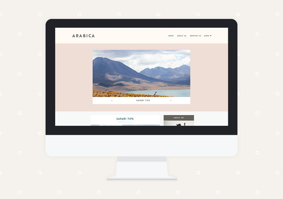 Arabica Premade Blogger Template