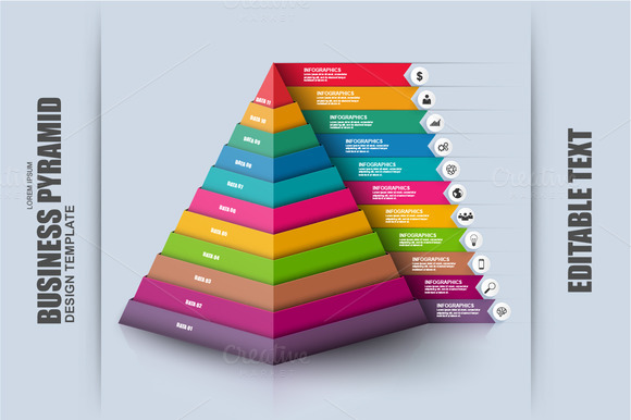 Business Pyramid Infographic