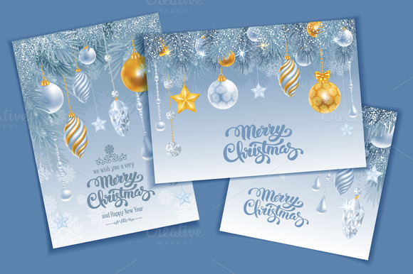 Christmas Luxury Cards Set