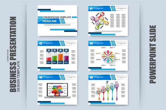 Set Of Infographic PowerPoint Slide