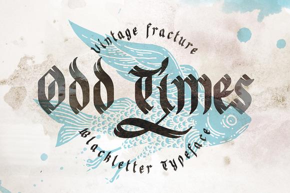 Odd Times Typeface Bonus Graphics