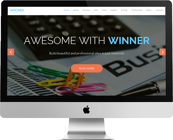 Winner-OnePage Multipurpose Template