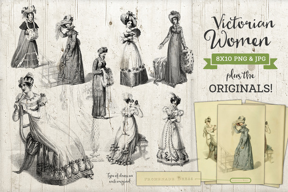 Victorian Women Fashion Graphics