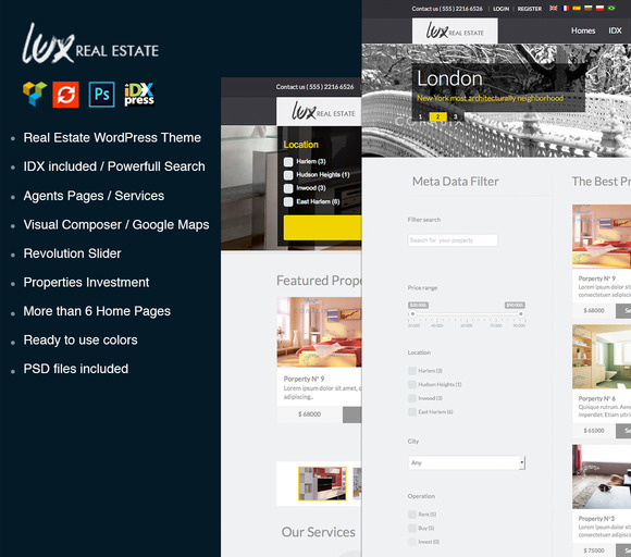 Lux Real Estate WordPress Theme