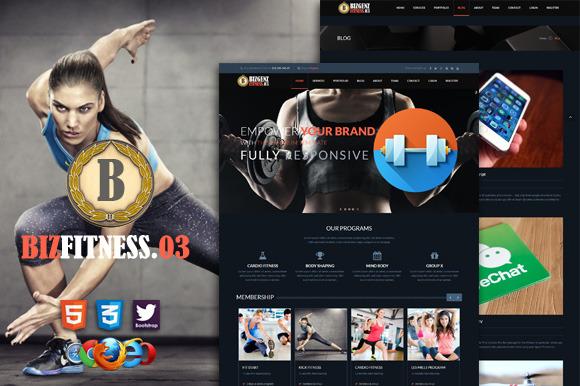 Biz Fitness 3 Premium HTML5 Template