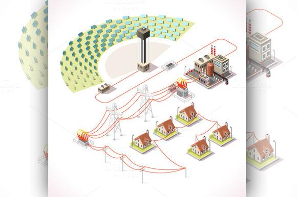 Energy Infographic Isometric