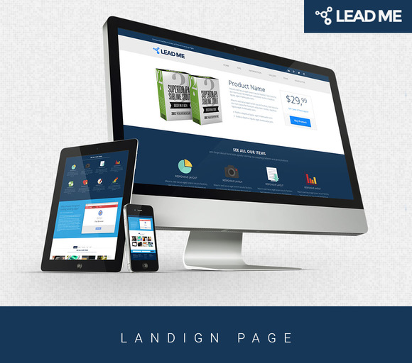 Lead Me Converting Landing Page