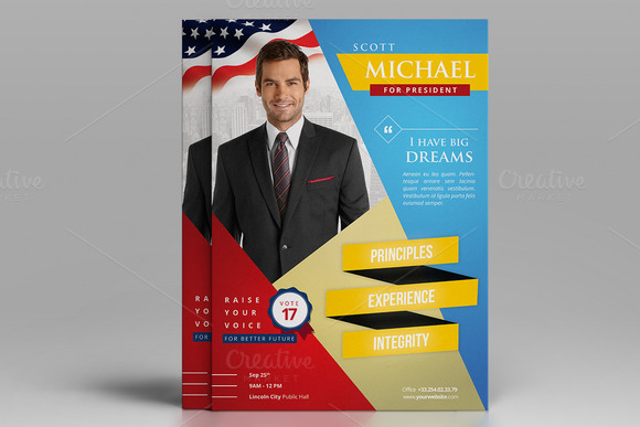 Sample of election campaign letter designtube creative for Political campaign brochure template