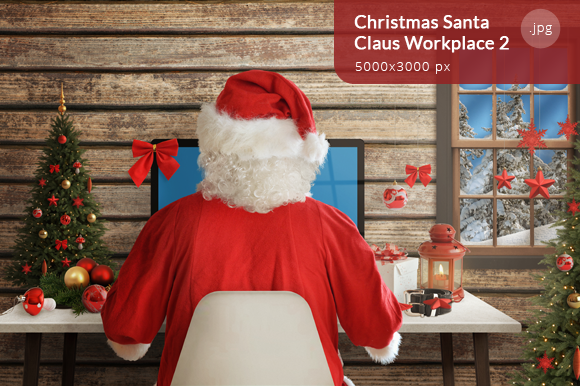 Christmas Santa Claus Workplace 2