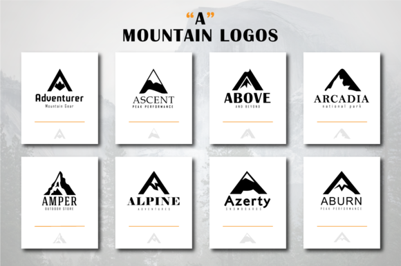 Mountain Logos A Letter Shape