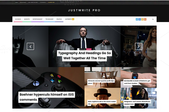 JustWrite Pro WordPress Theme