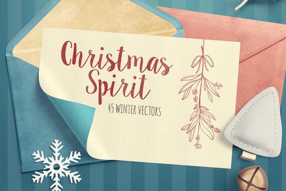 Christmas Spirit Winter Vector Pack