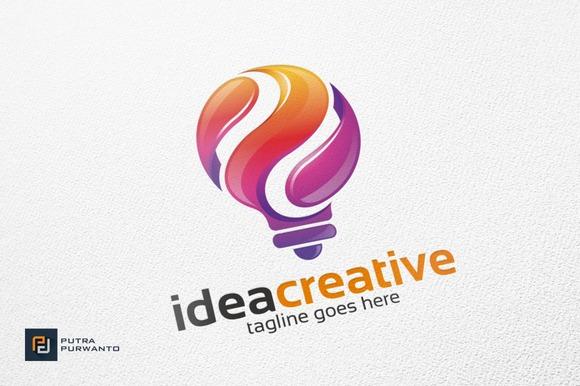 Idea Creative Bulb Logo