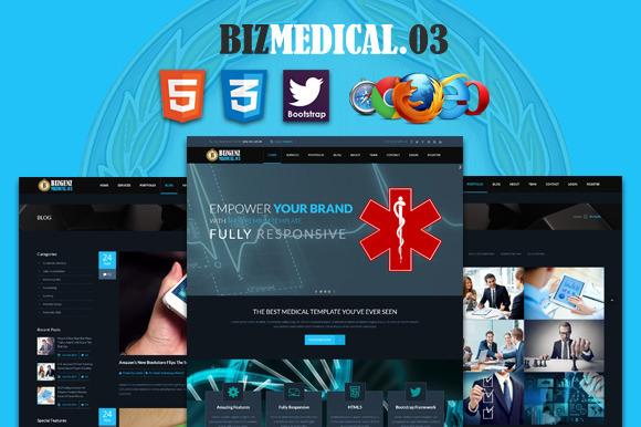 Biz Medical 3 Premium HTML5 Template