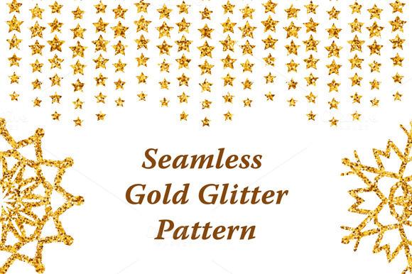 Seamless Gold Glitter Pattern