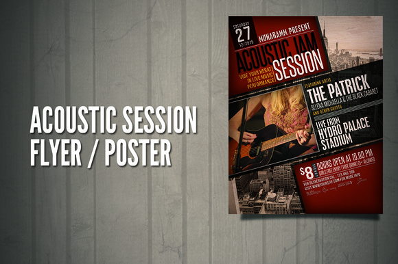 Acoustic Sesion Flyer Poster