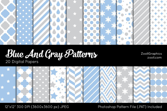 Blue And Gray Digital Papers