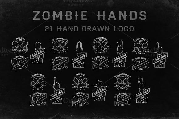 Zombiehands 21 Hand Drawn Logo
