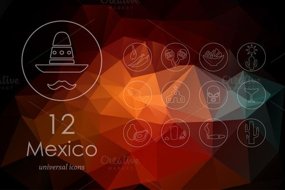 12 Mexico Icons
