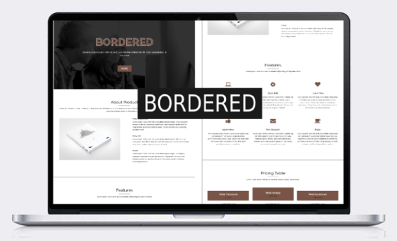 Bordered Responsive One Page