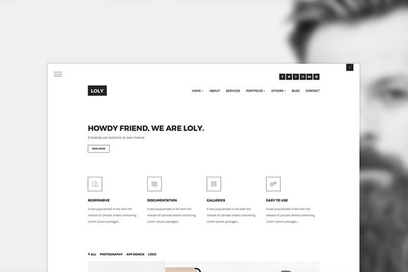 Loly Creative Portfolio Template