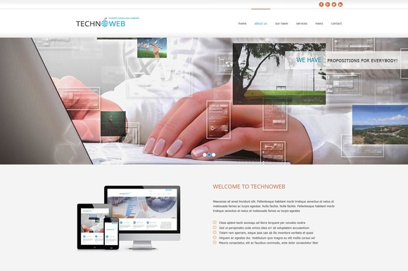 Techno Web OnePage HTML Theme