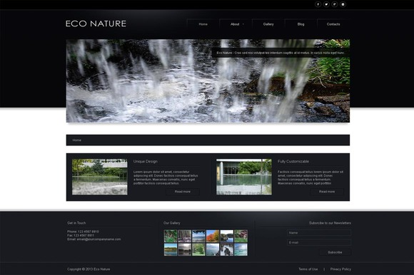 Eco Nature Business Joomla Theme