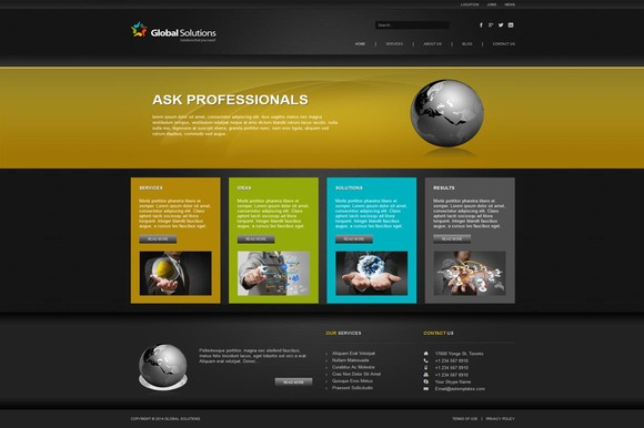 Global Solutions Joomla Theme