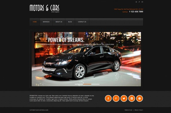 Motors And Cars Joomla Theme