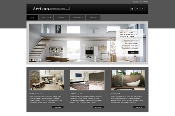 Artisan Inter Design Joomla Theme