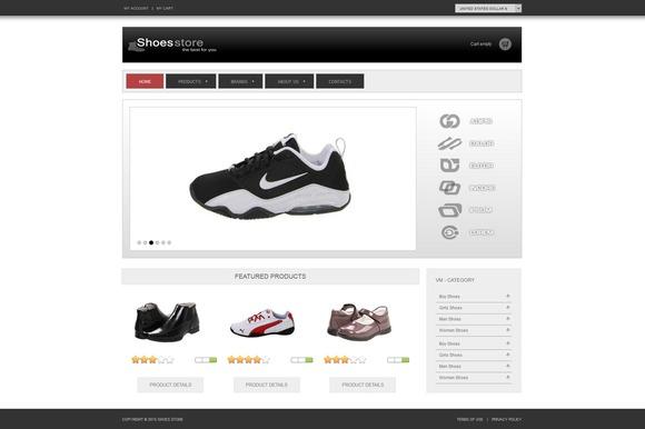 Shoes Store ECommerce Joomla Theme