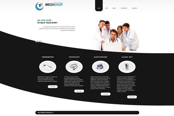 MediShop VirtueMart Joomla Theme