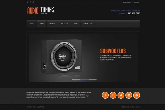 AudioTuning ECommece Joomla Theme