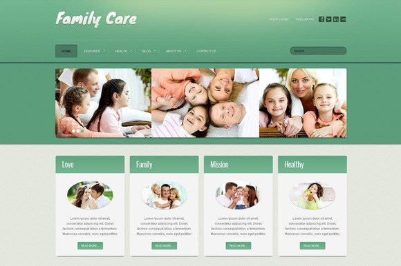 Family Care Joomla Theme