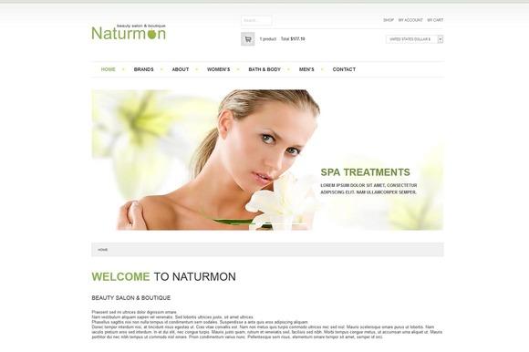 Naturmon VirtueMart Joomla Theme