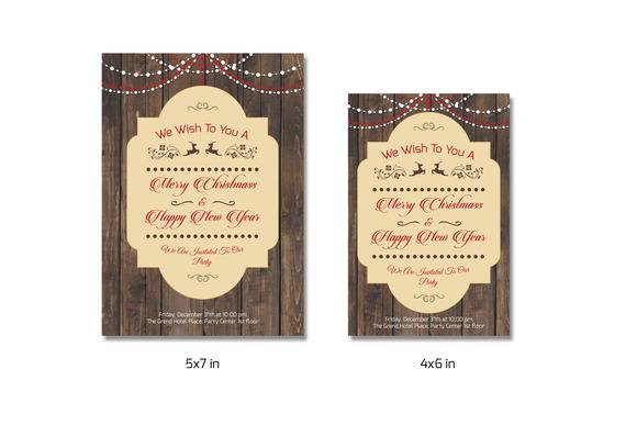 Christmas Invitation Template-V147