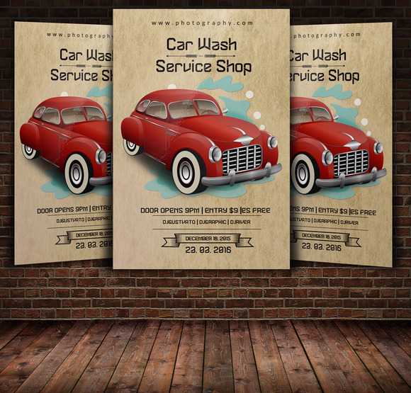 free psd car wash flyer template download designtube creative design content. Black Bedroom Furniture Sets. Home Design Ideas