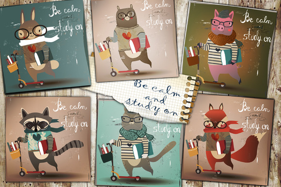 6 Illustrations With Cute Animals