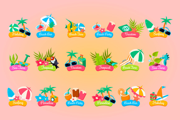 Summer Logotypes Set