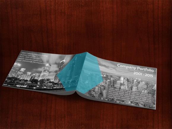 Minimalist Company Portfolio Present