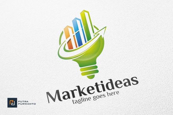 Market Ideas Chart Graph Logo
