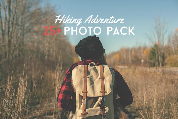 25 Hiking Adventure Photo Pack