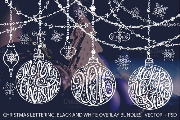 Christmas Ball Lettering Set