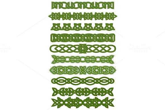Green Celtic Knots Ornaments