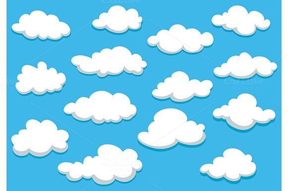Cartooned Clouds Background