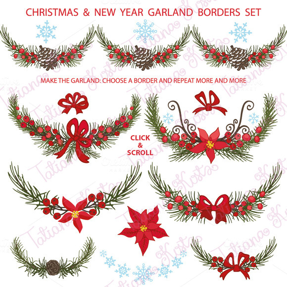 Christmas page borders landscape designtube creative