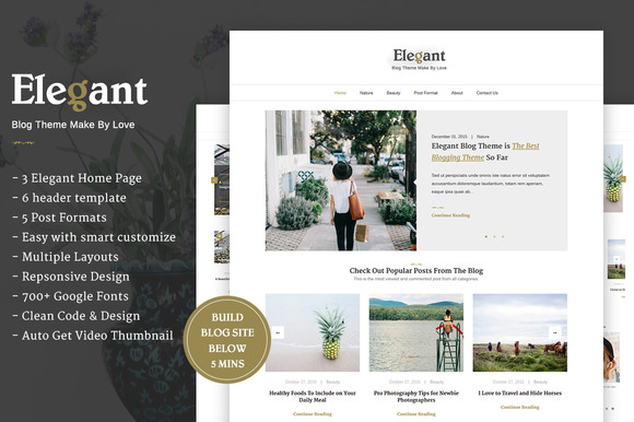 Elegant Clean Minimal WordPress