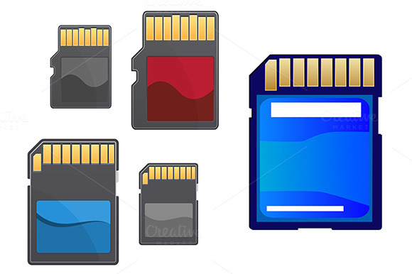 Multimedia And Memory Cards Set