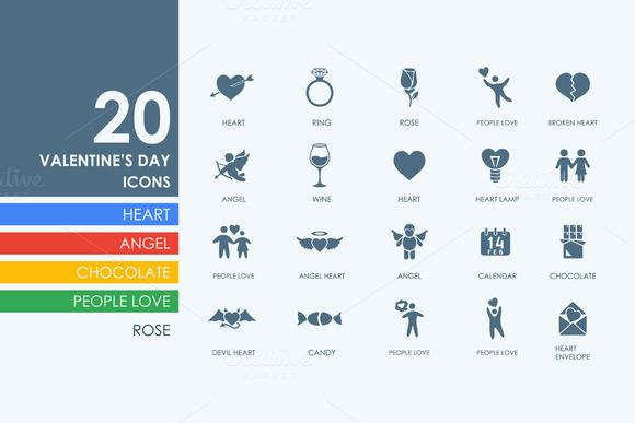 20 ValentineЎЇs Day Icons